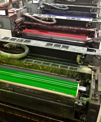 RGB inks replace the traditional CMYK on Metropolitan's main press.