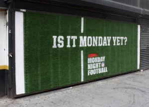Awesome ad campaign for Monday Night Football.